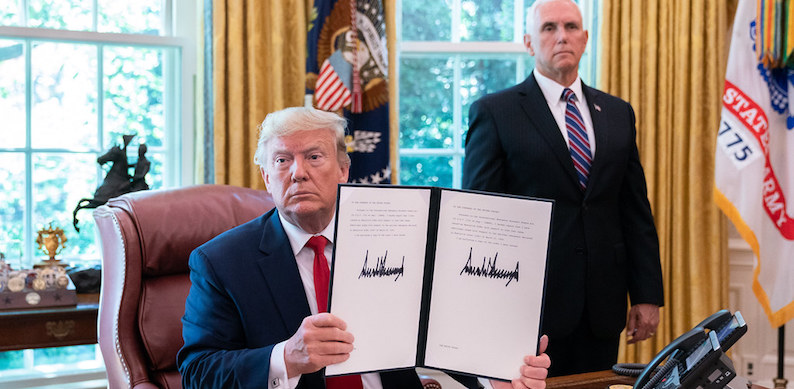 President Trump Signs an EO Sanctioning Iran